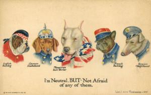 Американский плакат времён Первой мировой войны